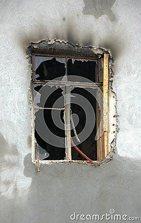 Burned window