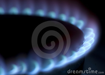 Burner of a gas stove on domestic kitchen, XXL