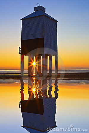 Burnham lighthouse at sunset