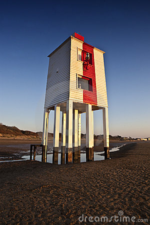 Burnham-on-Sea  wooden lighthouse