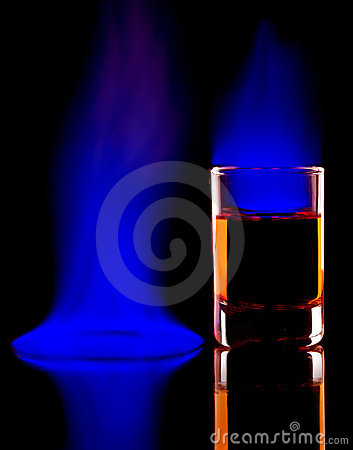 Burning alcohol