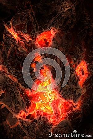 Free Burning Ashes Stock Image - 4687711