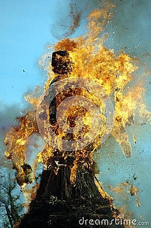 Burning the boogg