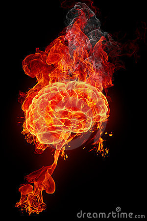 Burning brain