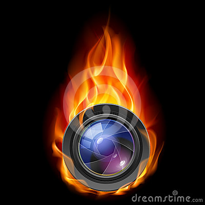 Burning the camera lens