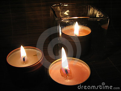 Burning Candles in the Night