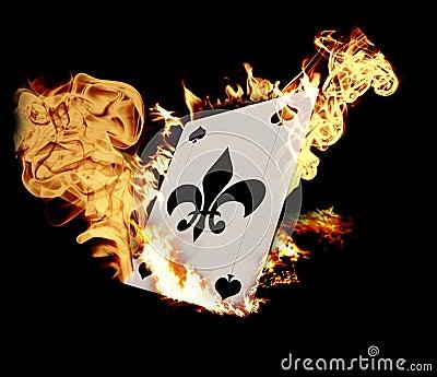 Burning Card
