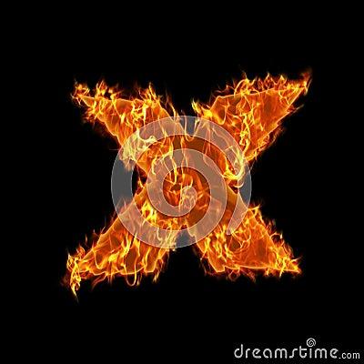Burning check opposite symbol