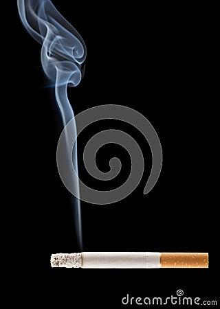 Free Burning Cigarette Royalty Free Stock Photo - 2493145