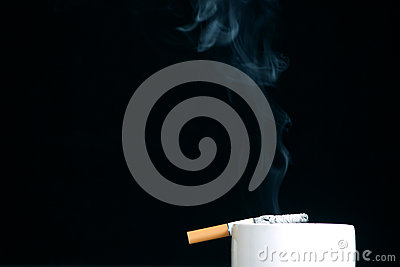 The burning cigarette