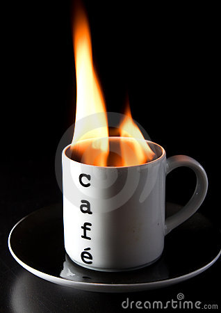 Free Burning Coffee Royalty Free Stock Photography - 16287167