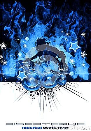 Free Burning DJ Music Background Stock Image - 10311861