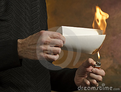 Burning document