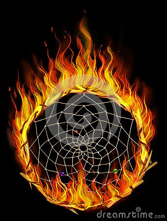 Burning dreamcatcher