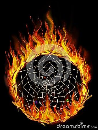 Burning dreamcatcher
