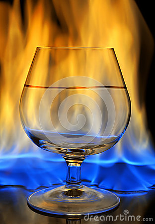 Burning drink