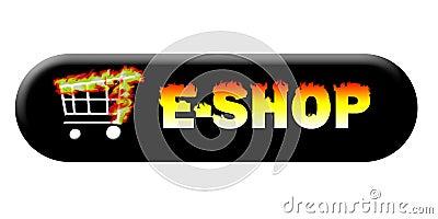 Burning e-shop button long