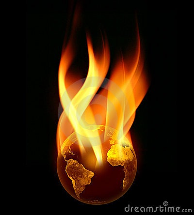 Burning Earth in Flames