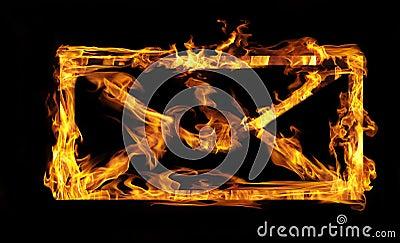 Burning envelope