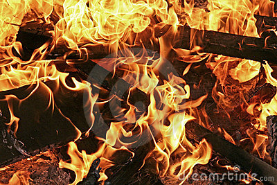 Burning fire