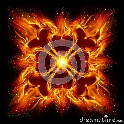 Free Burning Fire Cross Royalty Free Stock Image - 20489716