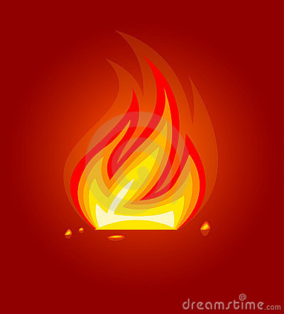 Free Burning Fire Flame Icon Royalty Free Stock Image - 5586226
