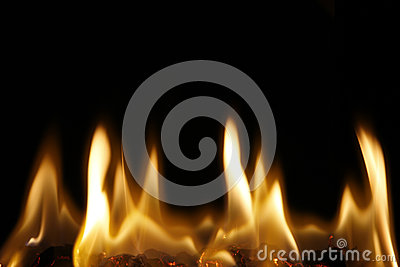 The burning flame