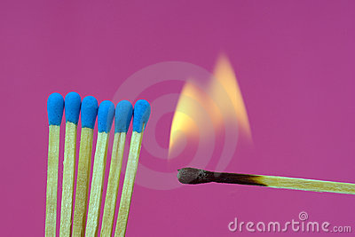Burning Flame  Matchstick