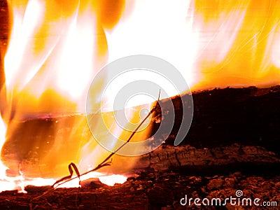 Burning flammor