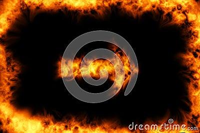Burning frame with arrow