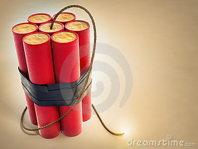 Burning Fuse With Dynamite Explosives Stock Photos - Image: 23285263