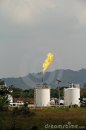 Burning gas