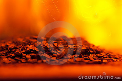 Burning Gunpowder Stock Photography - Image: 15091272