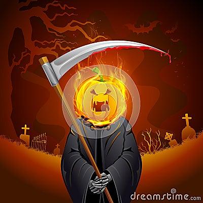 Burning Halloween Grim