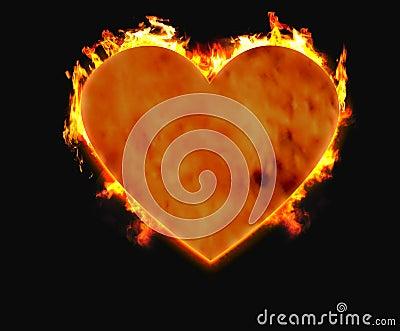 Burning heart 1