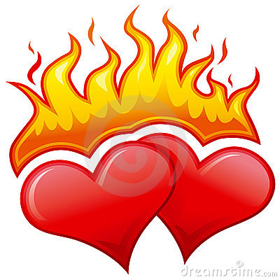 Free Burning Hearts Royalty Free Stock Photo - 4013965