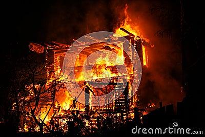 Burning House Stock Images Image 32086164