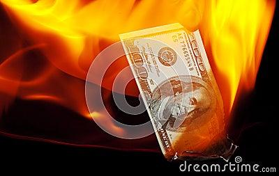 Burning a Hundred Dollar Bill