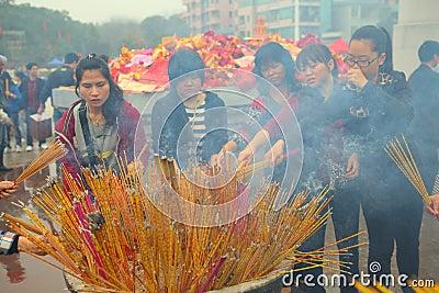 Burning incense Editorial Stock Photo