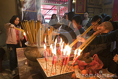Burning Incense Editorial Image