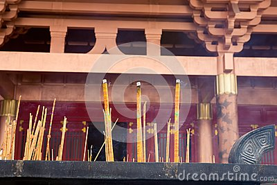 Burning incense,temple