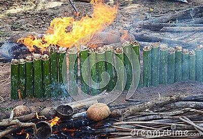 Burning Khao-lam