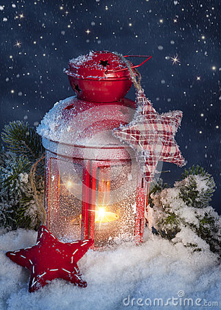 Burning lantern