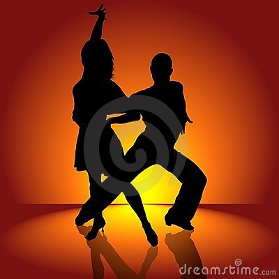 Free Burning Latino Dance Royalty Free Stock Photography - 8857627
