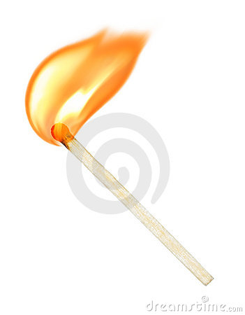 Free Burning Match Royalty Free Stock Image - 17756506