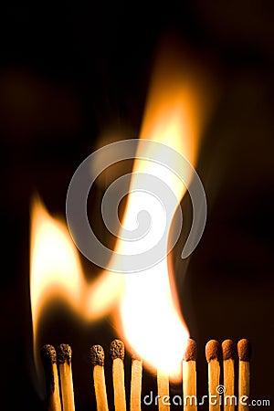 Free Burning Matches Royalty Free Stock Images - 13204259