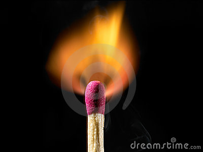 Burning Matchstick Stock Image Image 5763611