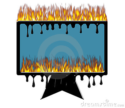 Burning melting computer