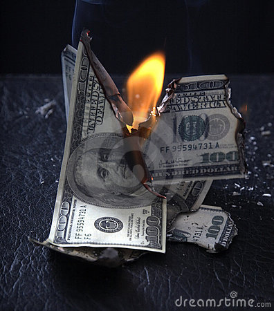 Burning of money
