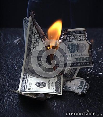 Burning of money